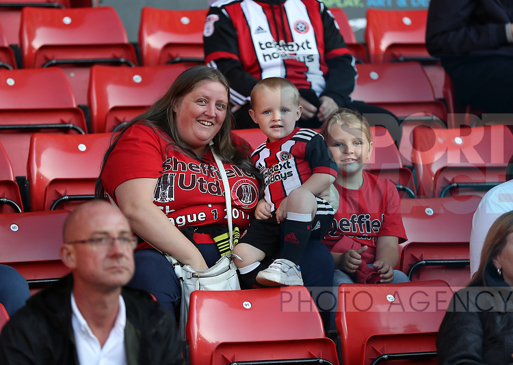 Sheffield United fans during the Carabao Cup round One match at Bramall Lane Stadium, Sheffield. Picture date 9th August 2017. Picture credit should read: Jamie Tyerman/Sportimage
