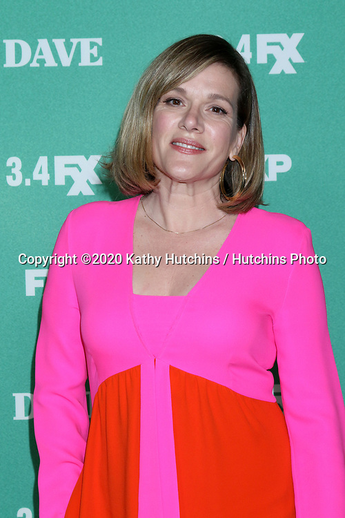 """LOS ANGELES - FEB 27:  Catherine Dent at the """"Dave"""" Premiere Screening from FXX at the DGA Theater on February 27, 2020 in Los Angeles, CA"""