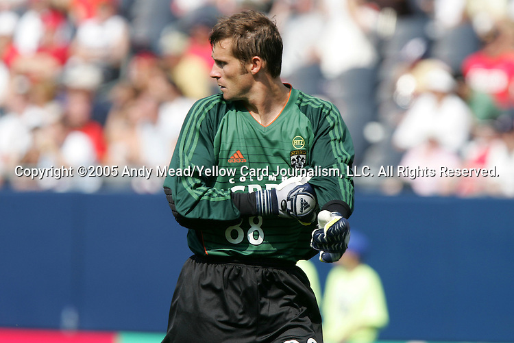 16 July 2005: Jonny Walker. The Chicago Fire and Columbus Crew tied 1-1 at Soldier Field in Chicago, Illinois in a regular season Major League Soccer game.