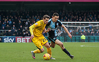 Luke O'Nien of Wycombe Wanderers & Billy Bodin of Bristol Rovers    in action during the Sky Bet League 2 match between Wycombe Wanderers and Bristol Rovers at Adams Park, High Wycombe, England on 27 February 2016. Photo by Claudia Nako.