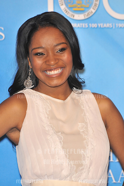 Keke Palmer at the 40th Annual NAACP Image Awards at the Shrine Auditorium, Los Angeles..February 12, 2009  Los Angeles, CA.Picture: Paul Smith / Featureflash