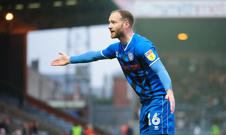 Rochdale's Matt Done<br /> <br /> Photographer Chris Vaughan/CameraSport<br /> <br /> The EFL Sky Bet League One - Rochdale v Blackpool - Wednesday 26th December 2018 - Spotland Stadium - Rochdale<br /> <br /> World Copyright © 2018 CameraSport. All rights reserved. 43 Linden Ave. Countesthorpe. Leicester. England. LE8 5PG - Tel: +44 (0) 116 277 4147 - admin@camerasport.com - www.camerasport.com