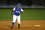 CHAPEL HILL, NC - FEBRUARY 24: Hampton's Kial Watts. The Hampton University Pirates played the Towson University Tigers on February, 24, 2017, at Anderson Softball Stadium in Chapel Hill, NC in a Division I College Softball match. Towson won 17-2 in a five inning run-rule game.