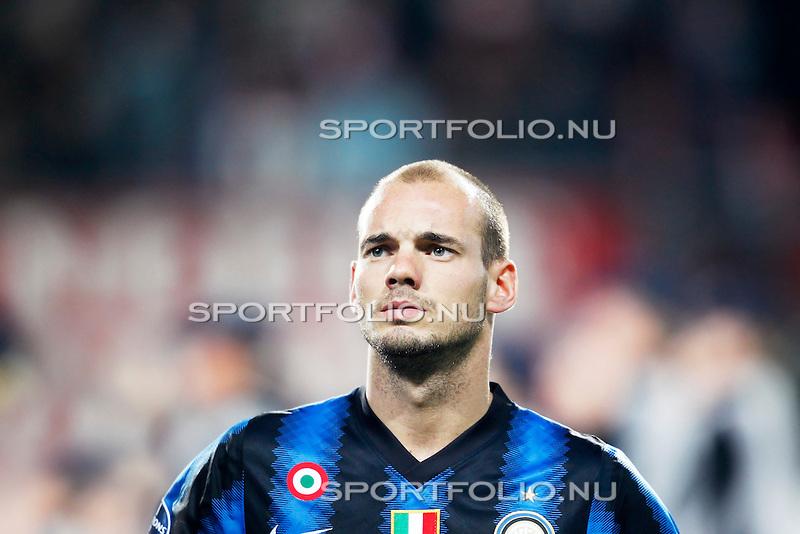 Nederland,Enschede, 14 september 2010.Champions League.Seizoen 2010-2011.FC Twente-Inter Milaan (2-2).Wesley Sneijder van Inter Milaan