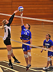 28 October 2012: Yeshiva University Maccabee Jackie Berger, a Sophomore from Boca Raton, FL, in action against the Farmingdale State College Rams at SUNY Old Westbury in Old Westbury, NY. The Rams defeated the Maccabees 3-0 in NCAA women's volleyball play. Mandatory Credit: Ed Wolfstein Photo