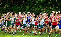 Woodlawn Varsity Cross Country runners compete at the McAlpine Park  in Charlotte, North Carolina.<br /> <br /> Charlotte Photographer - PatrickSchneiderPhoto.com