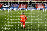 7th July 2020; Selhurst Park, London, England; English Premier League Football, Crystal Palace versus Chelsea; Goalkeeper Kepa Arrizabalaga of Chelsea along with his team mates kneeling before kick off