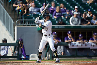 Patrick Frick (5) of the Wake Forest Demon Deacons at bat against the Furman Paladins at BB&T BallPark on March 2, 2019 in Charlotte, North Carolina. The Demon Deacons defeated the Paladins 13-7. (Brian Westerholt/Four Seam Images)