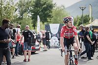 Tiesj Benoot (BEL/Lotto-Soudal) after finishing stage 6: Le parc des oiseaux/Villars-Les-Dombes &rsaquo; La Motte-Servolex (147km)<br /> <br /> 69th Crit&eacute;rium du Dauphin&eacute; 2017