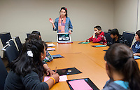 "The California Immigration Semester (CIS) and Center for Community Based Learning (CCBL) hosts a group of local elementary school students as part of a ""Day at College"" event. About 24 students and 20 adult chaperons from Annandale Elementary participated. Nov. 15, 2012.<br />