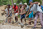 A year after Hurricane Matthew ravaged parts of Haiti, neighbors work together to control flooding in the community of Bassin Hady, a village in the country's drought-stricken northwest where seven people died during the storm. In the wake of the hurricane, residents here constructed a series of earthen dikes that catch and hold rain water, preventing soil erosion and providing water for expanded agriculture. They did it with help from Lutheran World Relief, one of several members of the ACT Alliance that are helping Haitians build resiliency as they rebuild from the storm.