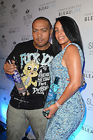 MIAMI BEACH, FL - SEPTEMBER 01:  Timbaland and Monique Mosley attend the LeSUTRA Sparkling Liqueur launch at Fontainebleau Miami Beach on September 1, 2012 in Miami Beach, Florida. (photo by: MPI10/MediaPunch Inc.) /NortePhoto.com<br />