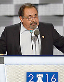 United States Representative Raul Grijalva (Democrat of Arizona) makes remarks at the 2016 Democratic National Convention at the Wells Fargo Center in Philadelphia, Pennsylvania on Monday, July 25, 2016.<br /> Credit: Ron Sachs / CNP<br /> (RESTRICTION: NO New York or New Jersey Newspapers or newspapers within a 75 mile radius of New York City)