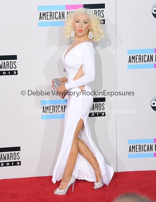 LOS ANGELES, CA - NOVEMBER 24: Christina Aguilera arrives at   The 2013 American Music Awards held at Nokia Live in Los Angeles, California on November 24,2013                                                                               © 2013 Hollywood Press Agency