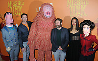 07 April 2019 - New York, New York - Hugh Jackman, Zach Galifianakis and Zoe Saldana with movie characters at the New York Premiere of &quot;MISSING LINK&quot;, held at Regal Cinemas Battery Park II.<br /> CAP/ADM/LJ<br /> &copy;LJ/ADM/Capital Pictures