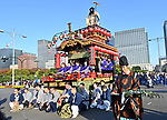 A procession of traditional folk dance groups and portable shrines from around Japan parade to celebrate the enthronement of Emperor Naruhito at the Imperial Palace Plaza in Tokyo on Saturday, November 9, 2019. (Photo by Natsuki Sakai/AFLO) AYF -mis-