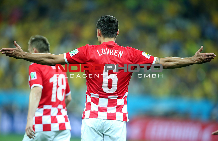 2014 Fifa World Cup opening game from group A against Brazil and Croatia.<br /> Dejan Lovren<br /> <br /> Foto &copy;  nph / PIXSELL / Sajin Strukic
