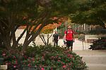 Nice shirt. Photo by Kevin Bain/University Communications Photography