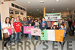 Big crowd gathered at the Kerry Airport to welcome home Brosnan family returning from Australia.