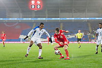 Manuel Vargas of Panama and David Brooks of Wales during the International Friendly match between Wales and Panama at the Cardiff City Stadium, Cardiff, Wales on 14 November 2017. Photo by Mark Hawkins.