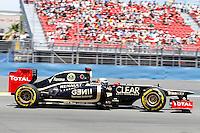 23.06.2012. Valencia, Spain. FIA Formula One World Championship 2012 Grand Prix of Europe Qualifying Session. Romanin Grosjean (French driver of Lotus Renault).