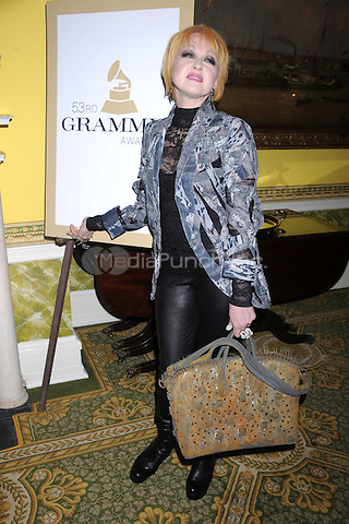 Cyndi Lauper attends the New York Chapter GRAMMY nominee reception hosted by Mayor Michael Bloomberg at Gracie Mansion on January 20, 2011 in New York City. Credit: Dennis Van Tine/MediaPunch