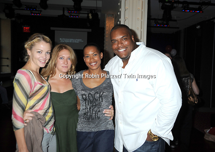 Bree Williamson, BethAnn Bonner, Kearran Giovanni and Sean Ringgold attend the Daytime Stars and Strikes Charity Bowling Event benefitting the American Cancer Society on .October 9, 2011 at Bowlmor Lanes in Times Square.
