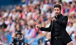 Coach Diego Simeone of Atletico Madrid gestures during their La Liga match between Atletico Madrid and Deportivo de la Coruna at the Vicente Calderon Stadium on 25 September 2016 in Madrid, Spain. Photo by Diego Gonzalez Souto / Power Sport Images
