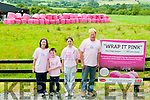 Wrap It Pink : The Lyons family from Knocknasna, Abbeyfeale who have ued pink pvc wrpping on their silage bales to support the Irish Cancer Society and supported by the Dairy Gold Co-op. L- R ;  Deidre, Conor, Anna & Donal LyonsLyons.