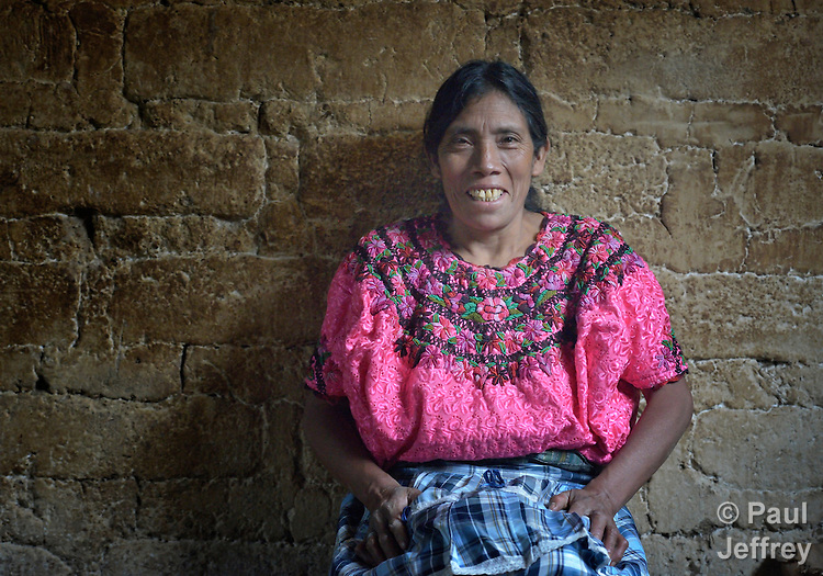 A woman in Tuixcajchis, a small Mam-speaking Maya village in Comitancillo, Guatemala.