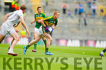 Colm Cooper, Kerry in action against Paul Cribbin,  Kildare in the All Ireland Quarter Final at Croke Park on Sunday.