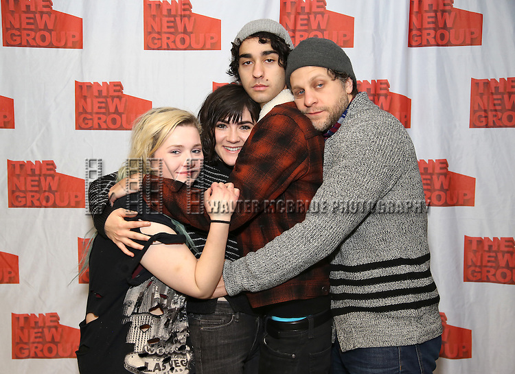 """Abigail Breslin, Isabelle Fuhrman, Alex Wolff and Joe Tippett attends the New Group's """"All the Fine Boys"""" rehearsal photocall at their rehearsal studio on February 3, 2017 in New York City."""