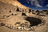 A large kiva at Pueblo Bonito in Chaco Canyon National Historic Park in northwestern New Mexico.