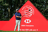 Shane Lowry (IRL) on the 11th tee during round 1 at the WGC HSBC Champions, Sheshan Golf Club, Shanghai, China. 31/10/2019.<br /> Picture Fran Caffrey / Golffile.ie<br /> <br /> All photo usage must carry mandatory copyright credit (© Golffile | Fran Caffrey)