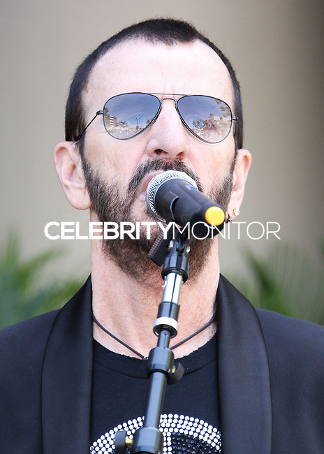 HOLLYWOOD, LOS ANGELES, CA, USA - JULY 07: Ringo Starr at the announcement of special collaboration of John Varvatos and Ringo Starr on occasion of Ringo's birthday at Capitol Records Studio on July 7, 2014 in Hollywood, Los Angeles, California, United States. (Photo by Xavier Collin/Celebrity Monitor)