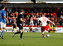 Michael Bostwick of Stevenage Borough scores their fourth goal during the Blue Square Premier match between Stevenage Borough and Hayes and Yeading United at the Lamex Stadium, Broadhall Way, Stevenage on 10th October, 2009..© Kevin Coleman 2009 .
