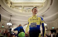 Irishman Nicolas Roche (IRL/Tinkoff-Saxo) happy to be here<br /> <br /> Giro d'Italia 2014<br /> Opening Ceremony