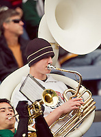 The Peninsula band performs during the game at Memorial Stadium in Seattle, Washington, on Saturday, November 6, 2010. O'Dea won the game 21-7.