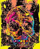 Dreams, MASCULIN, MÄNNLICH, MASCULINO, paintings+++++,MEDAMEN05/1,#M#, EVERYDAY ,skull,death