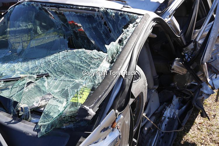 Automobile after a fatal car crash