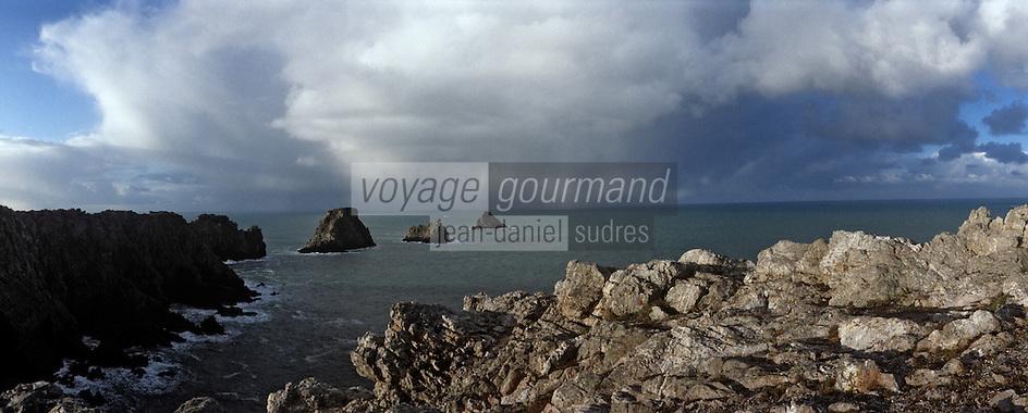 Europe/France/Bretagne/29/Finistère/Pointe de Penhir: Le tas de pois