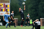 ELON, NC - AUGUST 25: Providence's Dominik Machado (19). The University of North Carolina Tar Heels hosted the Providence College Friars on August 25, 2017 at Rudd Field in Elon, NC in a Division I college soccer game. UNC won the game 4-2.