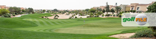 2nd green at The Els Club , Dubai, United Arab Emirates.  28/01/2016. Picture: Golffile | David Lloyd<br /> <br /> All photos usage must carry mandatory copyright credit (&copy; Golffile | David Lloyd)