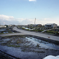 A view of Isle Jean Charles, a predominantly Native American community in Louisiana threatened by hurricanes and coastal erosion and victim to regular flooding and pollution.