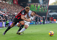Bournemouth's Jordon Ibe (left) is tackled by Wolverhampton Wanderers' Jonny Otta (right) <br /> <br /> Photographer David Horton/CameraSport<br /> <br /> The Premier League - Bournemouth v Wolverhampton Wanderers - Saturday 23 February 2019 - Vitality Stadium - Bournemouth<br /> <br /> World Copyright © 2019 CameraSport. All rights reserved. 43 Linden Ave. Countesthorpe. Leicester. England. LE8 5PG - Tel: +44 (0) 116 277 4147 - admin@camerasport.com - www.camerasport.com