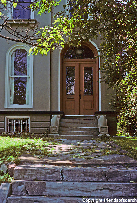 St. Louis: House, Lafayette Ave. Front entrance. Photo '78.