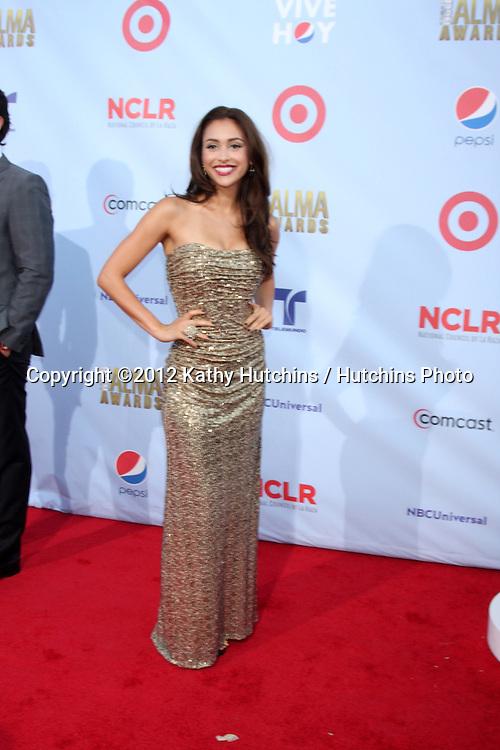 LOS ANGELES - SEP 16:  Lindsey Morgan arrives at the 2012 ALMA Awards at Pasadena Civic Auditorium on September 16, 2012 in Pasadena, CA