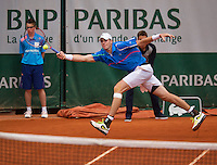 France, Paris, 30.05.2014. Tennis, French Open, Roland Garros, John Isner (USA)<br /> Photo:Tennisimages/Henk Koster