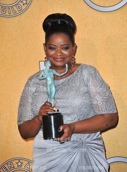 """The Help"" star Octavia Spencer at the 17th Annual Screen Actors Guild Awards at the Shrine Auditorium, Los Angeles..January 29, 2012  Los Angeles, CA.Picture: Paul Smith / Featureflash"