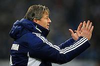 FUSSBALL   1. BUNDESLIGA   SAISON 2012/2013    18. SPIELTAG FC Schalke 04 - Hannover 96                           18.01.2013 Trainer Jens Keller (FC Schalke 04)